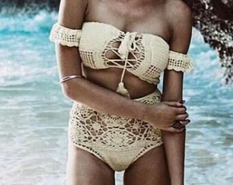 Crochet Bikini, Festival Top,Summer Bikini.