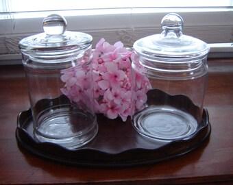 Vintage apothecary jars storage glass containers bath decor home decor nursery decor kitchen storage terrariums glassware