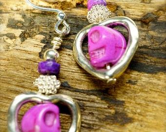 020 Hearts and Skulls in Purple
