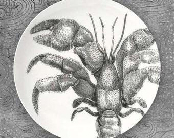 Crustaceans I melamine plate