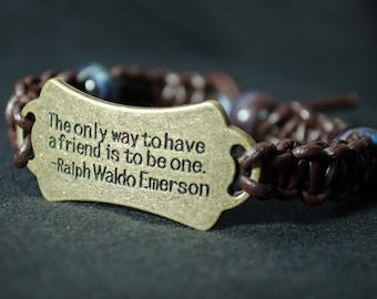 Friend Leather Bracelet