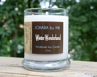 Winter Wonderland - Handmade Natural Soy Candle