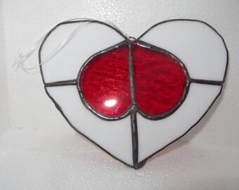 Stained Glass Heart Suncatcher,