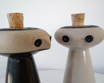 Mid Century Salt and Pepper Shakers by Bennington Pottery
