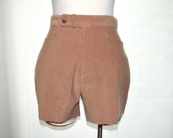 High Waisted Shorts, Tan Animal Print Shorts, Size 10, Studio C Vintage Women's Shorts, 80's Shorts Ladies' Cutoffs, BOHO, Hipster