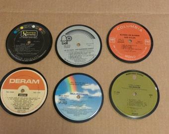 Vinyl Record Album LP Coasters set of 6 mixed artists #23