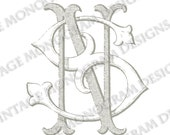 NS monogram or SN monogram - vintage monogram scanned from antique book and provided in digital format.