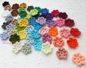 Crochet flowers 10 PCS Small flower Tiny flower embellishments Colorful flowers decorations, pink, lavender, purple, blue, white