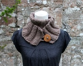 Taupe skinny button scarf - Listing134