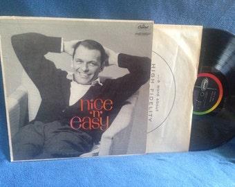 "Vintage, Frank Sinatra - ""Nice 'N' Easy"", Vinyl LP, Record Album, Rat Pack, 1960 MONO, Original First Press, Embraceable You, Fools Rush In"
