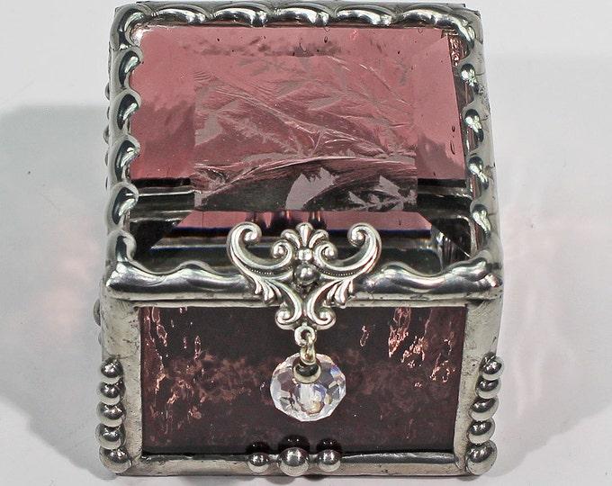 Ring Box, Keepsake Box, Treasure Box, stained glass box, stained glass