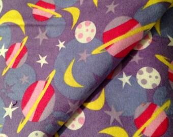 "Fabric Moon & Stars 1 yard x 43"" wide cotton flannel Snuggle Prints"