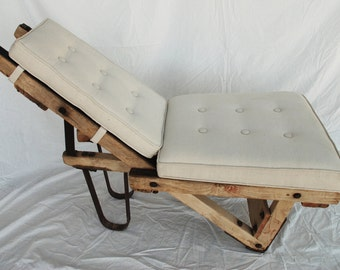 Vintage Brick Layer Cart -Chaise Lounger
