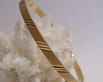 Monet Laser Cut Bangle Bracelet Size L
