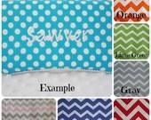 Embroidered wipe case/ custom wipe case/ chevron wipe case