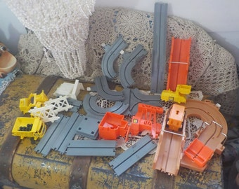 Tomy Big Loader Construction Set 1989, Train Set, Toy Trucks, Toy Trucks Set, Battery operated toys, Vintage Toys, Toys, :)S