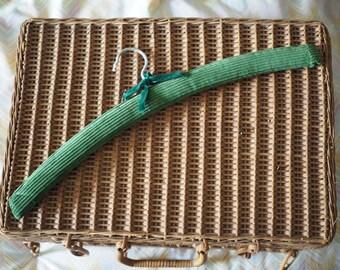 Vintage Coat Hanger - Green Cord Covered Hanger