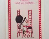 Unused Valentine Card Holly Hobbie / Vintage Valentine Card Little Girl by American Greetings Unused