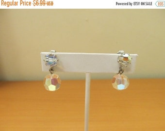 ON SALE Vintage Aurora Borealis Dangle Earrings Item K # 2025