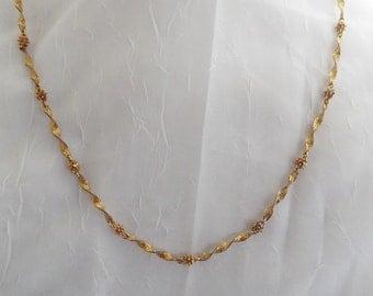 Unique Vintage Fancy Chain  Necklace 28 inch