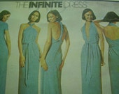Vintage 1970's McCall's 5360 The Infinite Dress Sewing Pattern, One Size