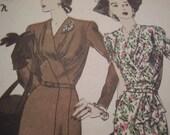 Vintage 1940's Vogue 4549 Special Design Sewing Pattern, Size 16, Bust 34