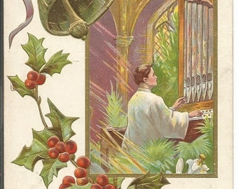 Vintage 1910's Merry Christmas Postcard