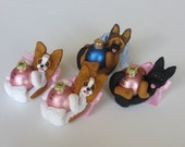 4 Dog Ornaments