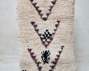 "UNMAPPED TERRITORY 5'8"" x 2'8"" Boucherouite Rug. Tapis Moroccan. Teppich Berber. Mid Century Modern Danish Design Compliment. FA15-154"