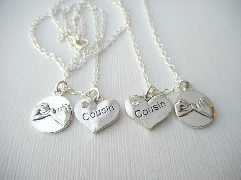 2 promise cousin best friend necklaces cousin cousin