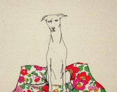 Print of an embroidered illustration by Sarah Walton