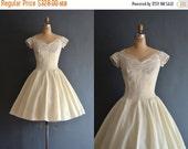 SALE - Halsey / 50s wedding dress / vintage 1950s wedding dress