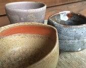 Set of three Handmade Ceramic Bowls