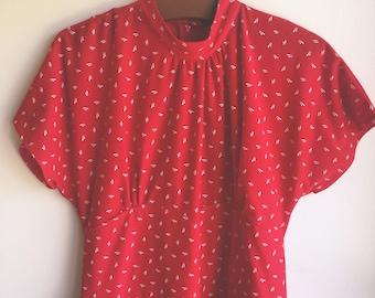 Vintage Red Peplum Dress