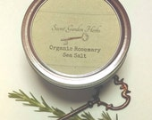 RESERVE for TRACEY: 40 Organic Rosemary & Natural Sea Salt Blend 4 oz Jars/ APRIL 30