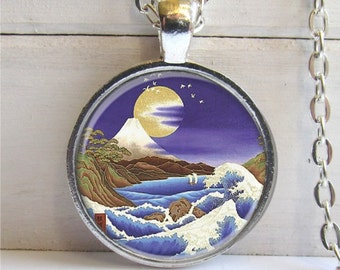 Mountain Necklace, Nature Jewelry, Art Pendant