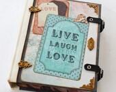 Handmade Mini Album Junk Journal Periwinkle