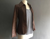 70s Skinny Fit Leather Jacket S / XS
