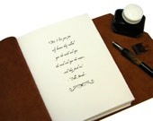Custom Title Page for Large Leather Journal, Quote Journal, Guest Book, Anniversary, Wedding