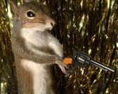 Taxidermy Gun Shooting Squirrel