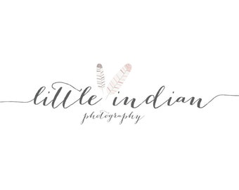 Feather Logo and Watermark