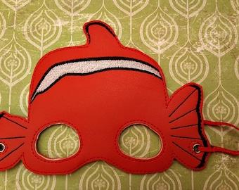 Child's Mask - Nemo - Clown Fish  - Orange marine vinyl