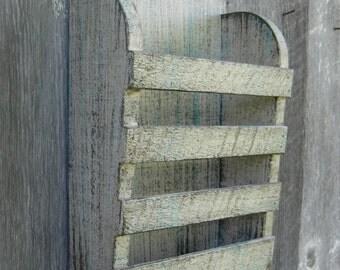 Mini To Go Menu Rustic Distressed Antique White Baby Aqua Graphite Hanging Magazine Menu Holder Vintage Design Storage Organizer