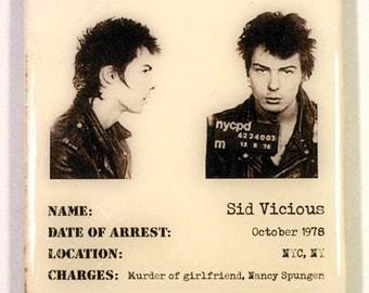 Sid Vicious Mugshot Coaster