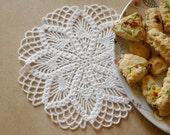 Crochet doily White crochet doily Small flower doily Small crochet doilies Crochet flower doilies Small lace doilies