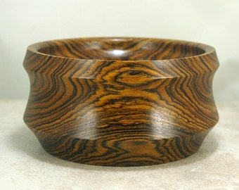 Beautiful Bocote Bowl with a food safe finish.