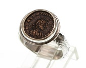 sterling silver women's ring with authentic ancient roman coin, ancient coin ring, ancient coin jewelry