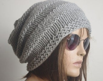 READY SHIP Crochet Hat Cloche Hat  light gray  Spring Fall Autumn Winter Accessories Fashion
