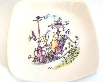 "Wade ""Emmets"" Pastoral Interlude Dish Vintage Pin / Trinket Tray"