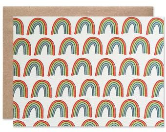 Rainbow Blank Folding Card
